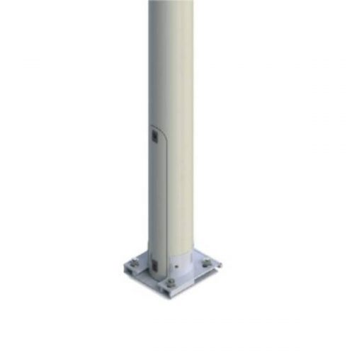 poteau d'éclairage basculant avec portillon pour alimentation electrique