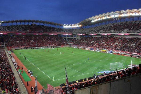 éclairage stade de football professionnel