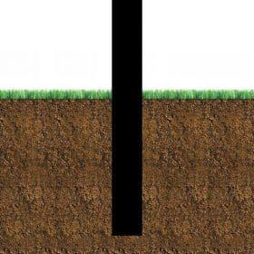 Directement dans le sol