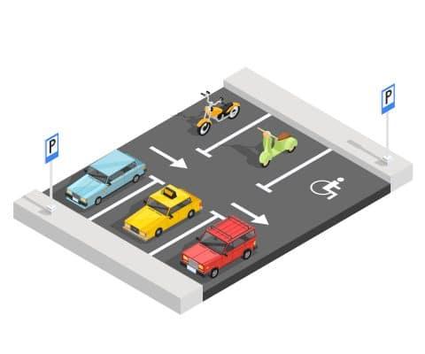 illustration d'un parking exterieur